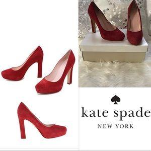 Kate Spade Nessle Russeti Kid Suede Platform Heel